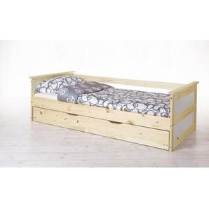 Sofabett mit Auszug Theodor 90x200 Kiefer massiv - natur