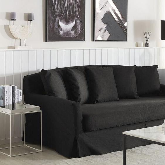 Sofabezug für 3-Sitzer GILJA Polsterbezug schwarz
