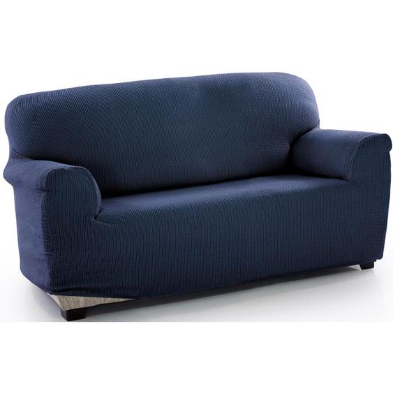 Sofahusse Dario, sofaskins (2-Sitzer), Mischgewebe blau Sofahussen Hussen Überwürfe Husse
