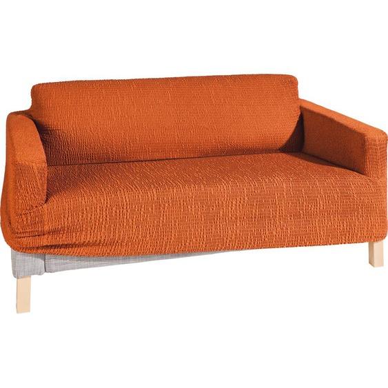 Sofahusse Paula, GAICO (2-Sitzer), Mischgewebe orange Sofahussen Hussen Überwürfe Husse