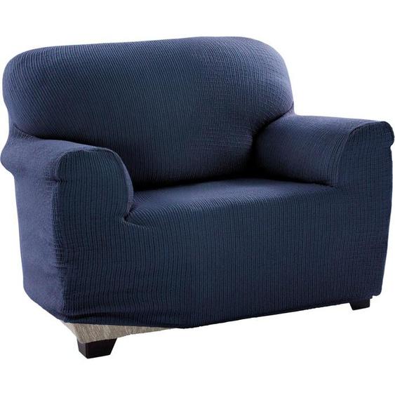 sofaskins Sesselhusse Dario, mit leichtem Struktur-Effekt blau Sesselhussen Hussen Überwürfe