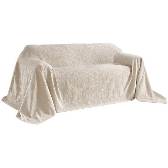Sofaüberwurf mit schönem Blätterdessin 1, ca. 160/270 cm grau Sofaüberwürfe Hussen Überwürfe