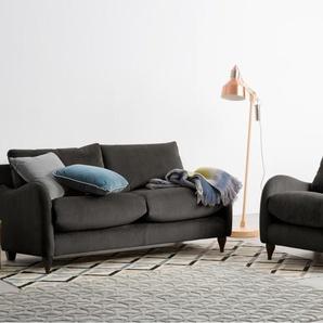 Sofia 2-Sitzer Sofa, Samt in Asphaltgrau