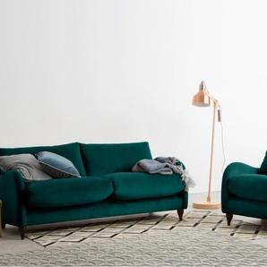 Sofia 3-Sitzer Sofa, Samt in Mallardgruen
