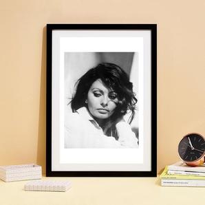 Sofia Loren, 1969 - Premium Poster gerahmt