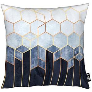 Soft Blue Hexagon - Kissen