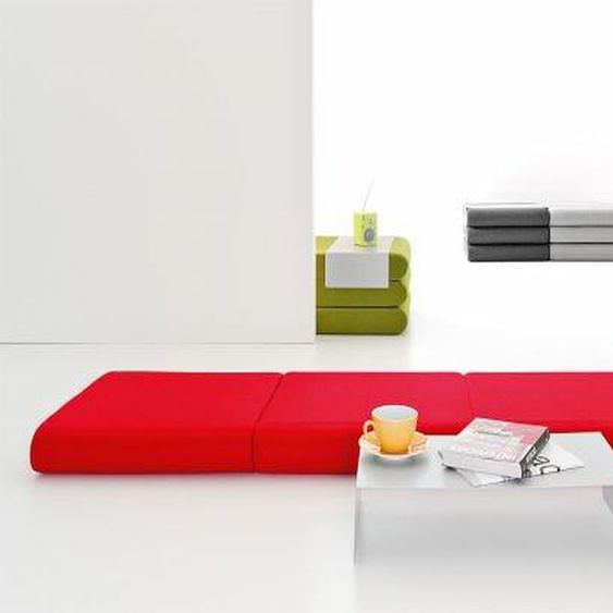 Softline Hocker Bingo rot, Designer Michiel van der Kley, 12x65x65 cm