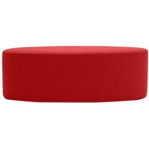 Softline Hocker Bon-Bon rot, Designer Busk & Hertzog, 33x100x40 cm
