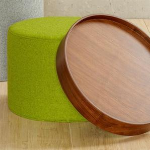 Softline Tablett Drum, walnuss braun, 7.4 cm