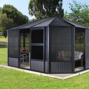 Sojag-Pavillon »Charleston« mit Stahldach und Türen - anthrazit -
