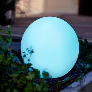 Solar-Kugelleuchte, rund mit Farbwechsel