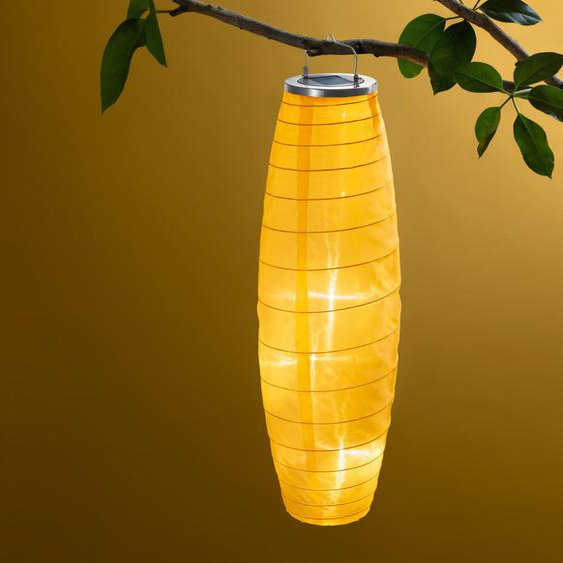 Solar-Lampion - schwarz - Edelstahl -