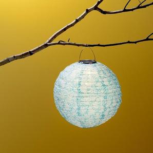 Solar-Lampion - silber - Edelstahl -