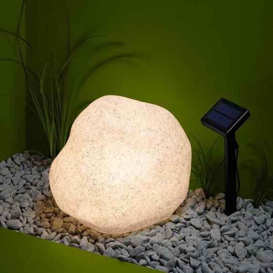 Solar-Leuchte »Stein« - Grau -