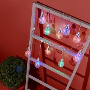 Solar-Lichterkette - silber -