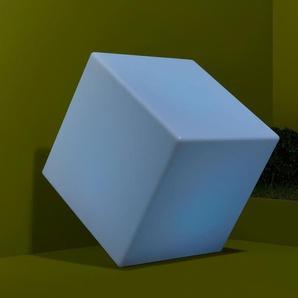 Solar-Würfelleuchte mit Farbwechsel - braun -