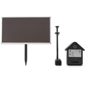 Solarbetriebener Teichbrunnen Wasserwerk mit Licht