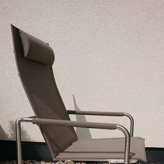 Solpuri Jardin Rocking Deck Chair Edelstahl Leisuretex Taupe