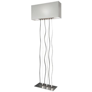 Sompex Stehlampe, Alu, Eisen, Stahl & Metall