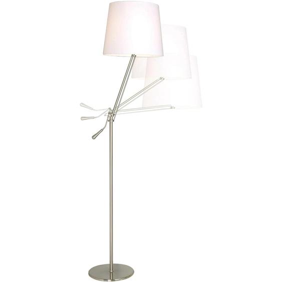 SOMPEX Stehlampe Knick, E27 1 flg., Ø 28 cm Höhe: 165 silberfarben Standleuchten Stehleuchten Lampen Leuchten
