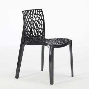 Sonderangebot 22 Stühle Buntes Polypropylen für Café Grand Soleil GRUVYER   Schwarz
