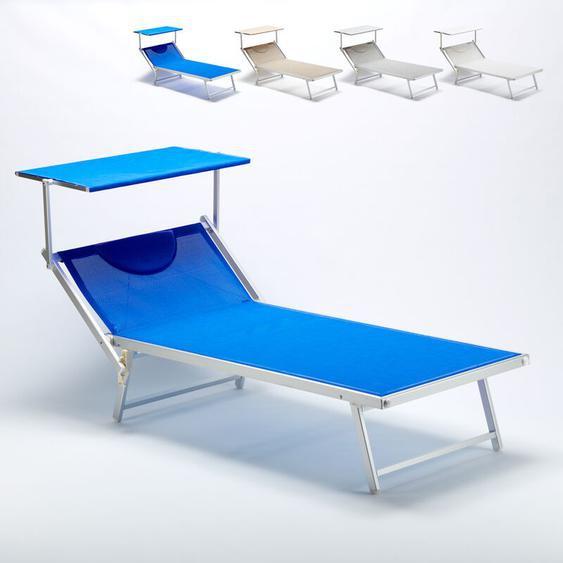 Sonnenliege aus Aluminium Professionell Groß Extralarge Grande Italia   Blau