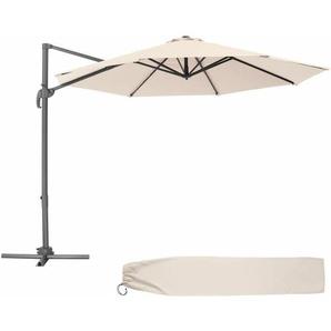 300cm türkis ohne Ständer UV 50+ Sonnenschirm halbrund Lorca