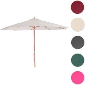 Sonnenschirm Florida, Gartenschirm Marktschirm,  3m Polyester/Holz 6kg ~ creme