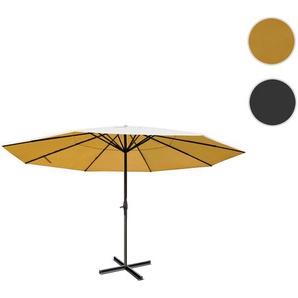 Sonnenschirm Meran Pro, Gastronomie Marktschirm ohne Volant  5m Polyester/Alu 28kg ~ creme ohne Stnder