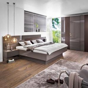 Sormani Schlafzimmer-Set, Grau, Lack / Hochglanz