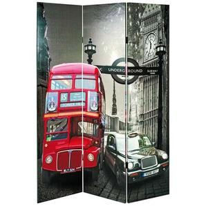 Spanische Wand mit London Motiv 120 cm breit