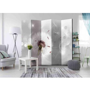 Spanischer Raumteiler in hell Grau und Weiß Pusteblume