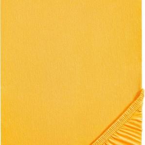 Spannbettlaken »Thea«, Biberna, Jersey-Elasthan Qualität für Wasserbetten geeignet