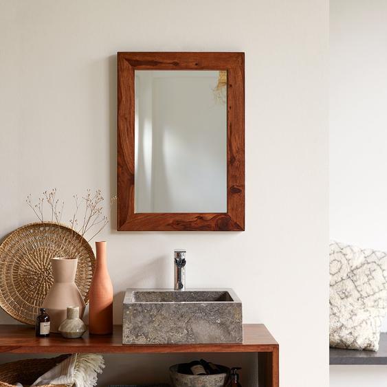 Spiegel Badezimmer Flur Schlafzimmer Wandspiegel 70x50 cm Massivholz Palisander