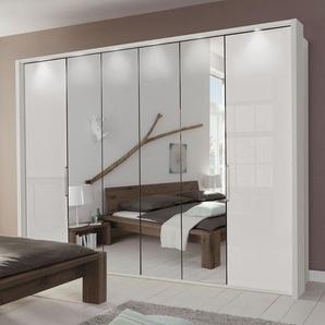 Spiegel-Falttüren-Kleiderschrank Westville, weiß