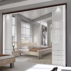 Kleiderschrank mit Spiegel, Schubladen und Falttüren - Westville