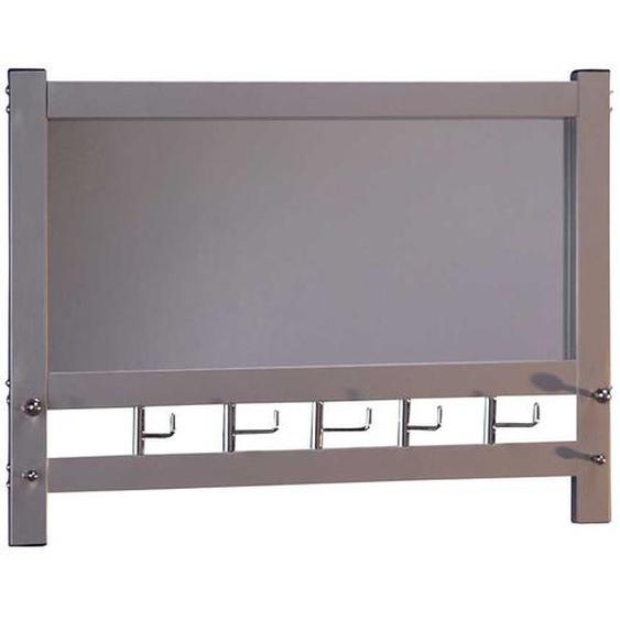 Spiegel Garderobe aus Metall Alufarben