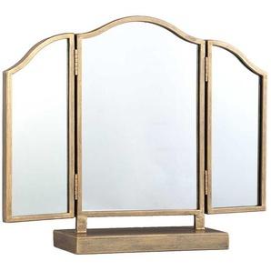 Spiegel in Goldfarben 3 teilig