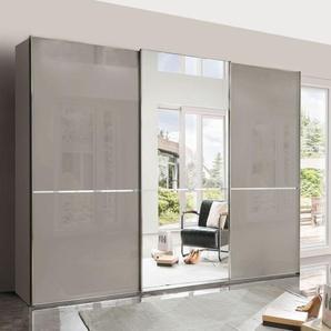 Spiegel-Kleiderschrank Butaco, grau, 3-türig - Breite 300  cm