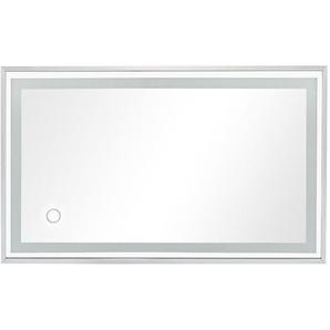 Spiegel mit Beleuchtung Badspiegel LED Spiegelleuchte 80x60CM Naturweiß 30W 2100LM LED 4000-4500K [Energieklasse A+] - TONFFI