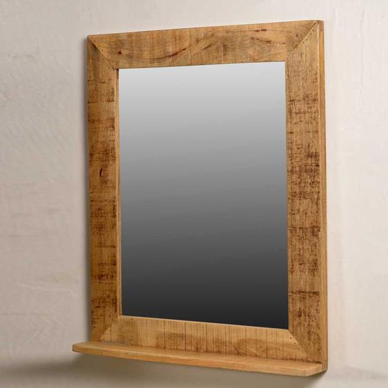 Spiegel mit Massivholzrahmen Ablage