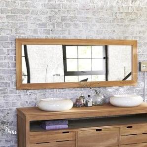 Spiegel Teak rechteckig 160 x 60 cm Wandspiegel Holz massiv neu