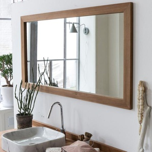 Spiegel Wandspiegel Badspiegel aus Teak Massiv Holzrahmen Bad neu
