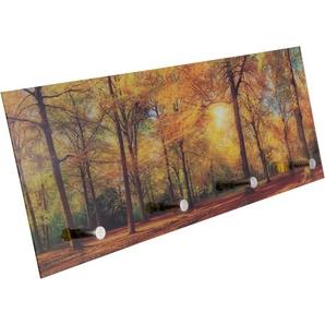 Spiegelprofi GmbH Garderobe Herbstwald B/H/T: 30 cm x 80 0,4 orange Garderobenpaneele Garderoben