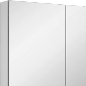 Spiegelschrank mit doppelseitig verspiegelten Türen, weiß, Türanschlag links, »3980«, MARLIN