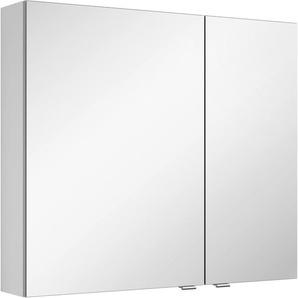 Spiegelschrank mit doppelseitig verspiegelten Türen »3980«, weiß, Türanschlag links, MARLIN