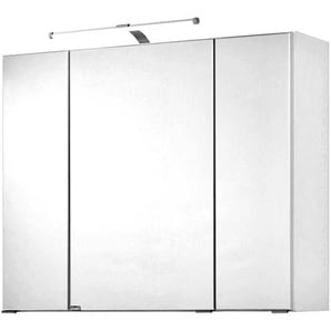 Spiegelschrank PADUA-03 weiß, LED-Aufbauleuchte, 90cm