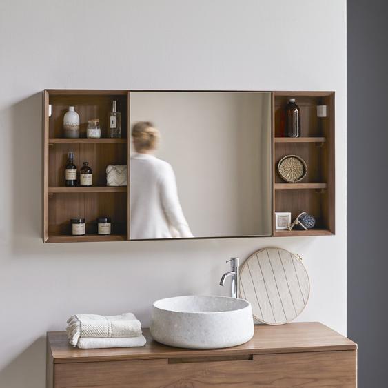 Spiegelschrank aus Teak 120 Taylor mit verschiebbarer Spiegelfläche