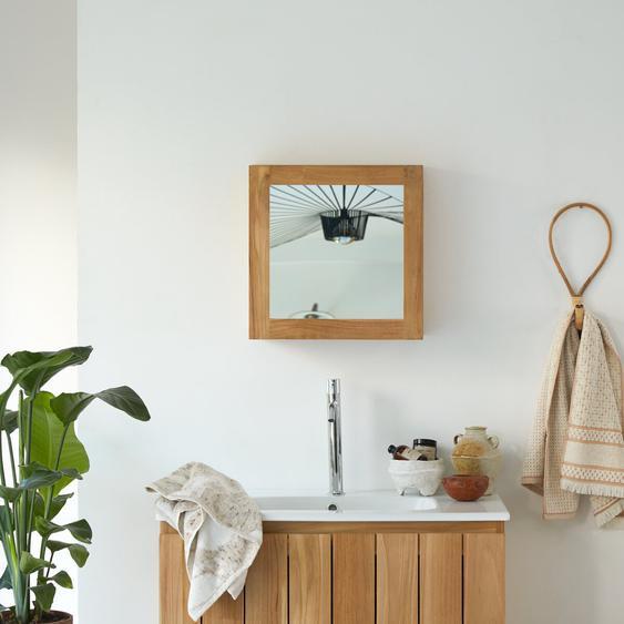 Spiegelschrank aus Teak 43 Jill mit Spiegeltür