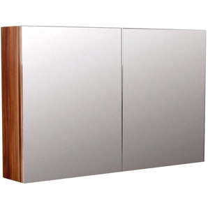 Spiegelschrank Basis 100x62 cm walnuss seidenglanz
